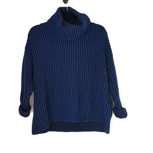 Zara ribbed knit slouchy fit turtleneck sweater
